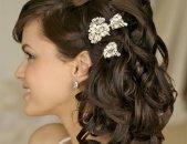 Свадебные прически на средние волосы, фото 5