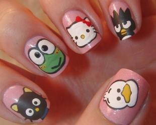 Рисунки с кошками на ногтях, детские рисунки на ногтях
