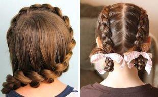 Прически с косами на выпускной на длинные волосы, быстрая прическа в школу