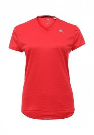Красные футболки, футболка спортивная adidas performance, осень-зима 2016/2017