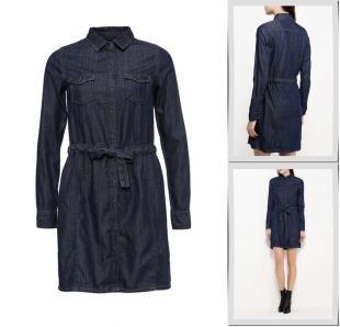 Синие платья, платье джинсовое pepe jeans, осень-зима 2016/2017