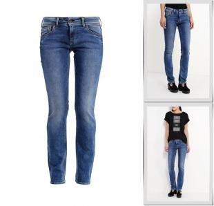 Синие джинсы, джинсы pepe jeans, осень-зима 2016/2017