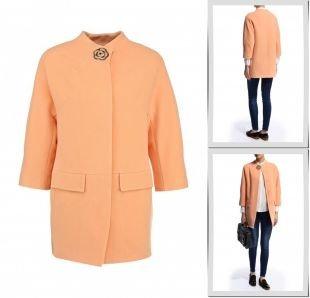Оранжевые пальто, пальто grand style, весна-лето 2015