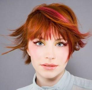 Макияж для рыжих, яркий макияж для серых глаз и рыжих волос