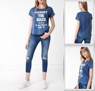 Синие футболки, футболка defacto,