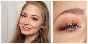 Коричневый макияж, весенний макияж для серых глаз и русых волос