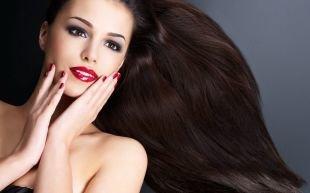 Макияж для брюнеток с красной помадой, роскошный макияж карих глаз
