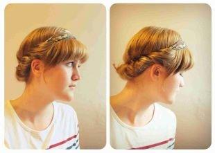 Греческие прически на длинные волосы, греческая прическа с повязкой