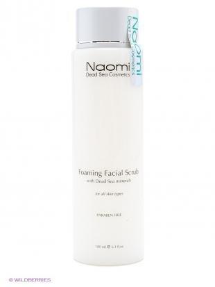 Скраб для кожи лица, naomi dead sea cosmetics пенящийся скраб для лица