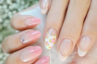Розовый френч, роскошный свадебный френч