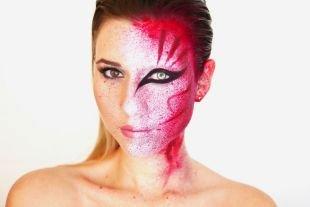 Креативный макияж, кровавый грим на хэллоуин