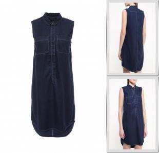 Синие платья, платье джинсовое tommy hilfiger, весна-лето 2016