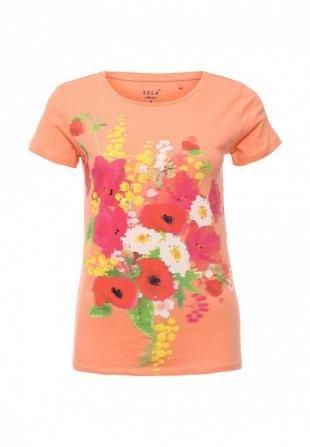 Коралловые футболки, футболка sela, весна-лето 2016