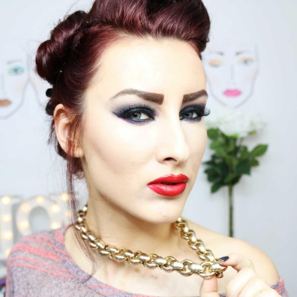 Вечерний макияж для рыжей фото