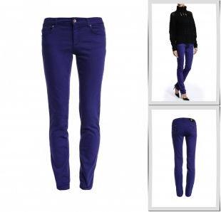 Фиолетовые джинсы, джинсы versace jeans, осень-зима 2014/2015
