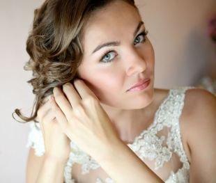 Свадебный макияж для шатенок, свадебный макияж для зеленых глаз в натуральной гамме