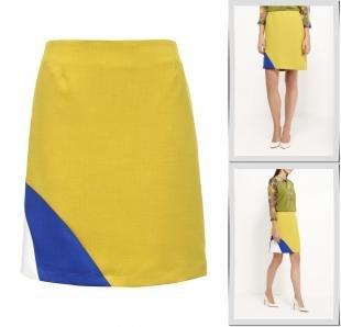 Желтые юбки, юбка d.va, осень-зима 2016/2017