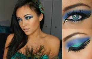 Арт макияж, карнавальный макияж павлина