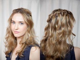 Прически с косами на выпускной, прическа водопад