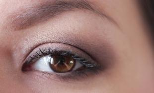 Макияж для больших карих глаз, дневной коричневый макияж глаз