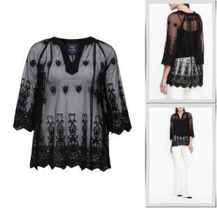 Черные блузки, блуза tantra, осень-зима 2016/2017