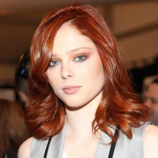 Ярко рыжий цвет волос, рыже-коричневый цвет волос