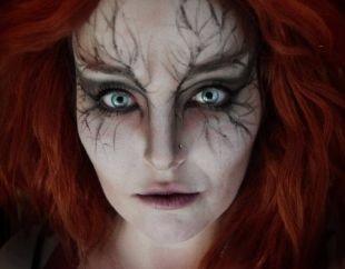 Макияж для голубых глаз на хэллоуин, макияж зомби на хэллоуин