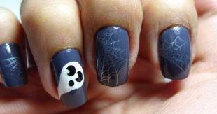 Легкие рисунки на ногтях, паутина на ногтях