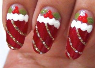 Простейшие рисунки на ногтях, нарядный красный маникюр на день рождения