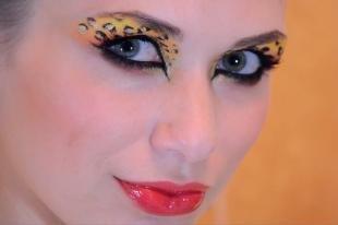 Авангардный макияж, леопардовый макияж на хэллоуин