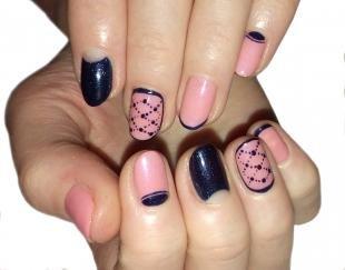 Рисунки на ногтях иголкой, модный деловой маникюр