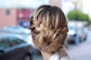 Прическа колосок на средние волосы, оригинальная прическа в школу