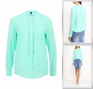 Бирюзовые блузки, блуза concept club, осень-зима 2015/2016