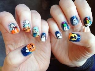 Маникюр на хэллоуин, оригинальные рисунки на ногтях на хэллоуин