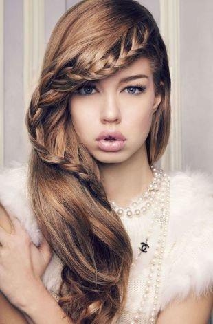 Прически с плетением на выпускной на длинные волосы, обворожительная прическа с косой на выпускной