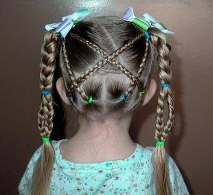Праздничные детские прически на длинные волосы, милая детская прическа на выпускной