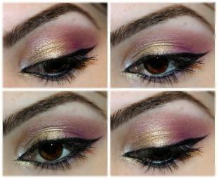 Темный макияж для брюнеток, арабский макияж для карих глаз