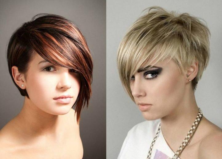 Стрижки для тонких волос с акцентированной челкой